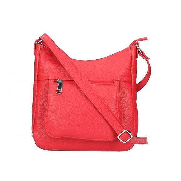 Kožená kabelka na rameno 1489 červená