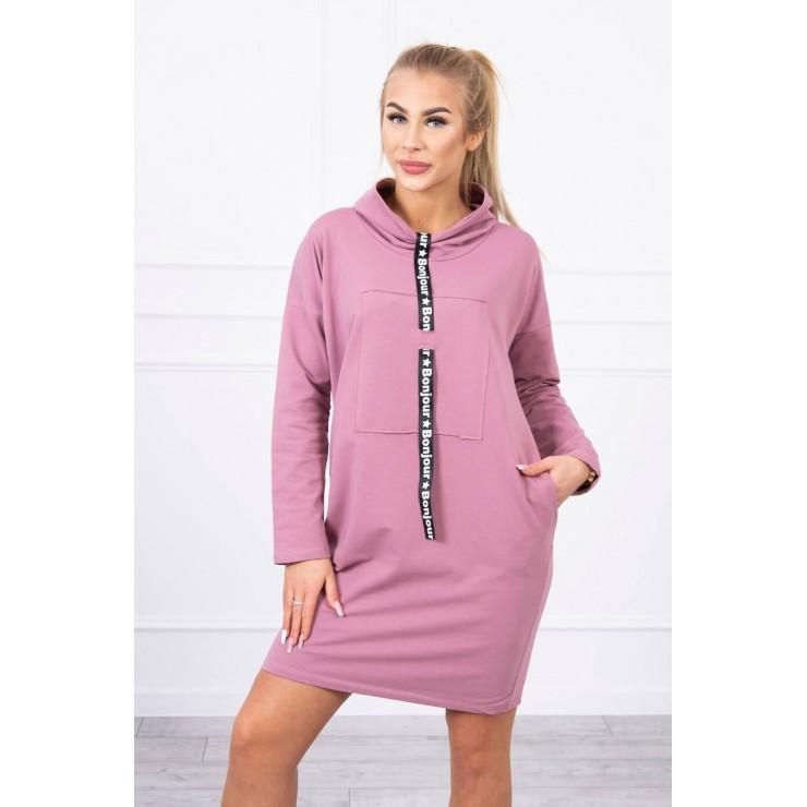 Šaty s kapucňou Bonjour MI0153 tmavoružové