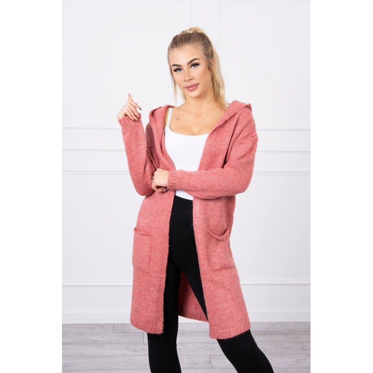 Sweater with hood MI2020-10 light pink
