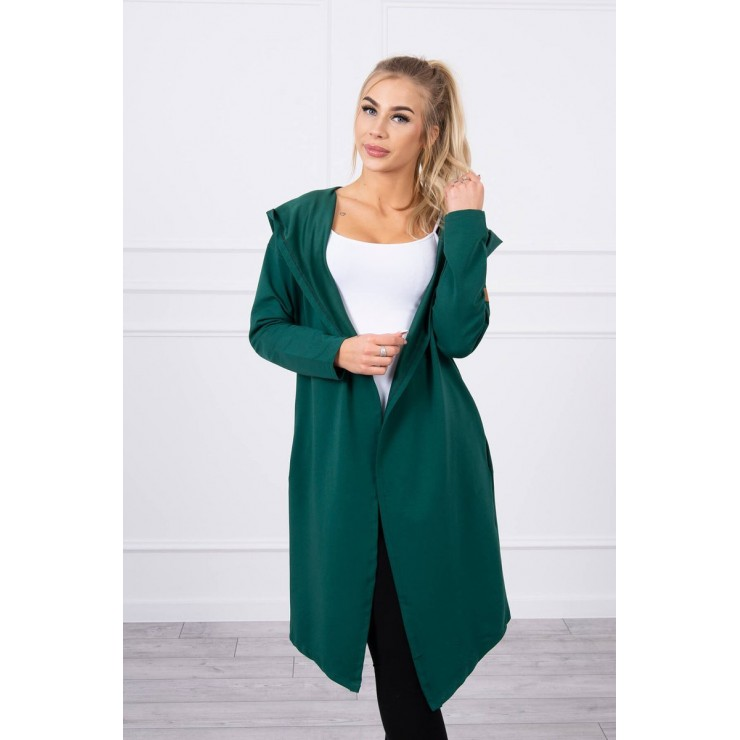 Cape with a hood MI9077 green