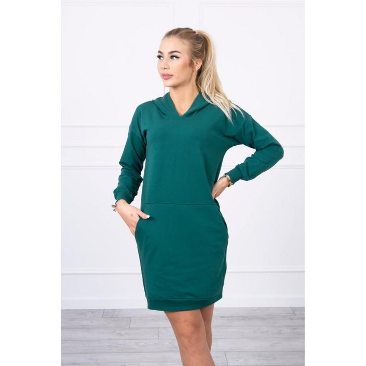 Šaty s kapucňou MI67292 zelené