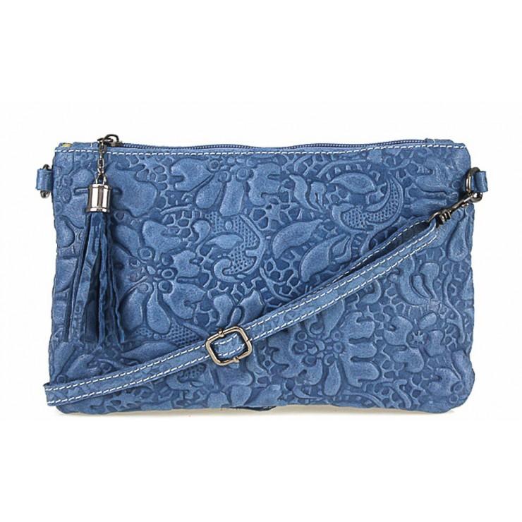 Kožená kabelka potlač kvetov 51 jeans