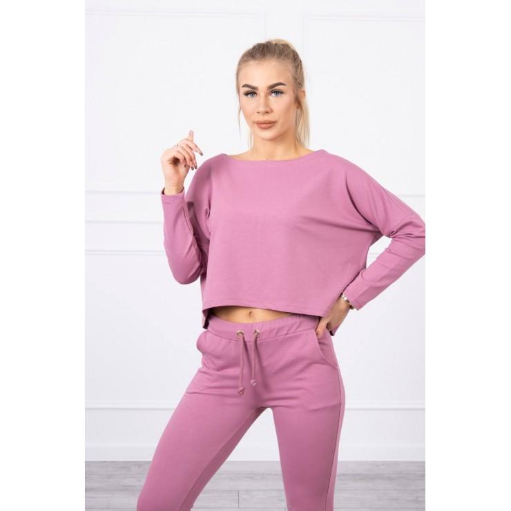 Women's set with oversize blouse MI9091 dark pink