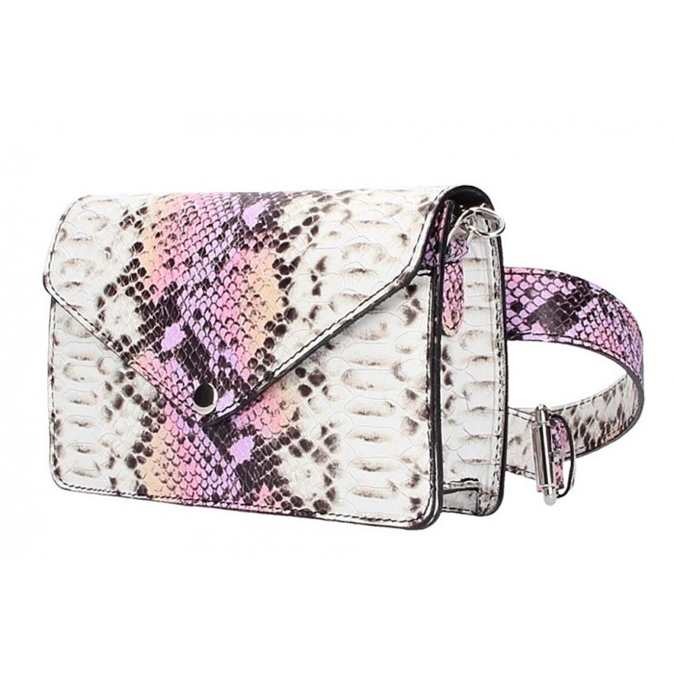 Leather Waist Bag/Messenger Bag 5303 fuxia