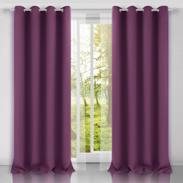 Curtain on rings Heaven light purple