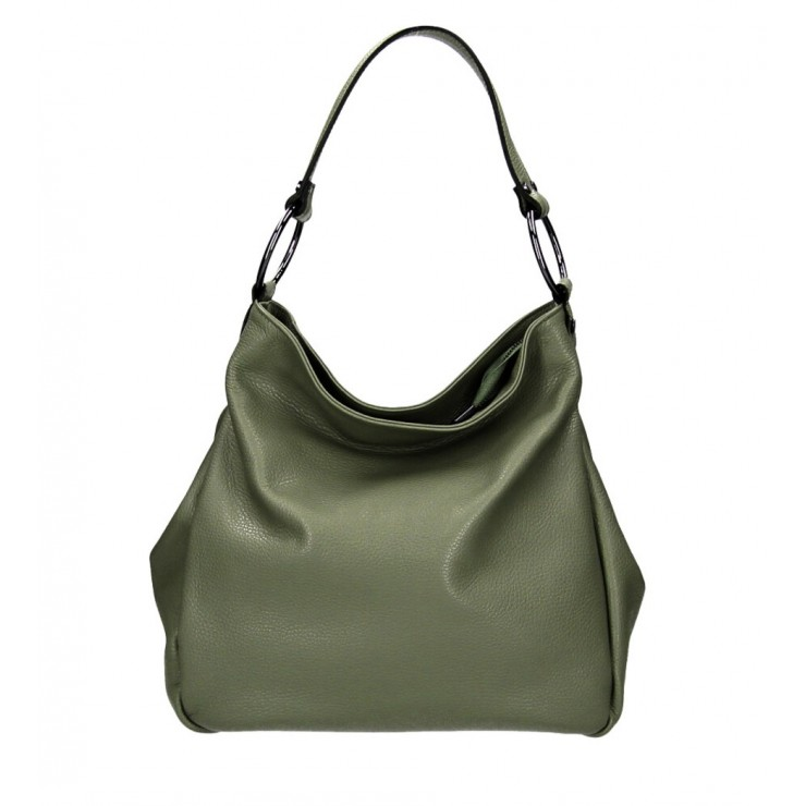 Genuine Shoulderbag 1081 military green Made in Italy