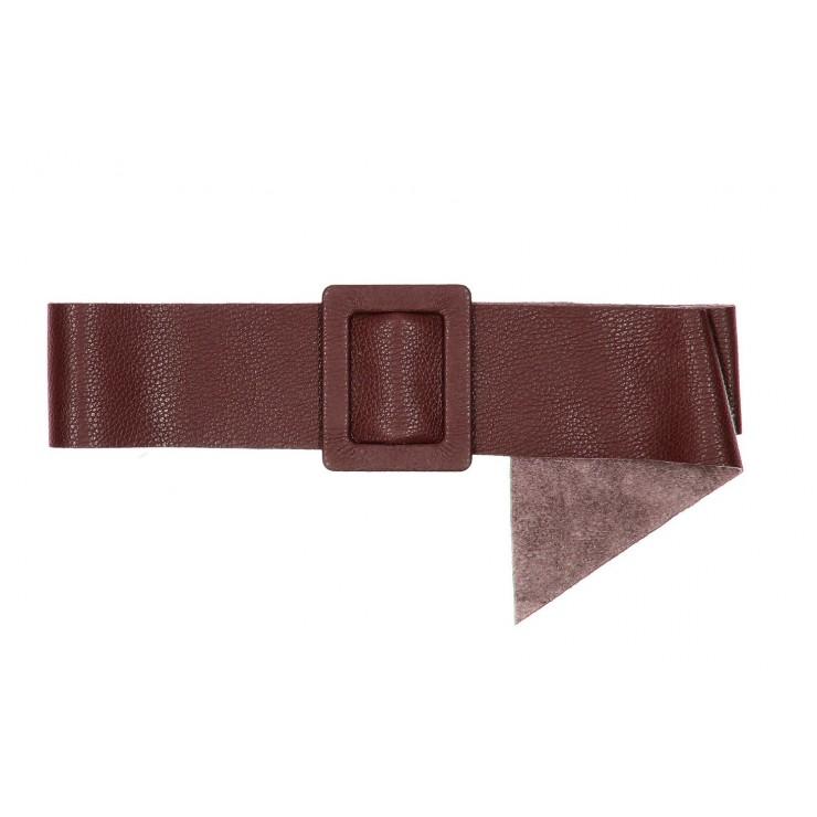 Women leather belt 1217 bordeaux Made in Italy
