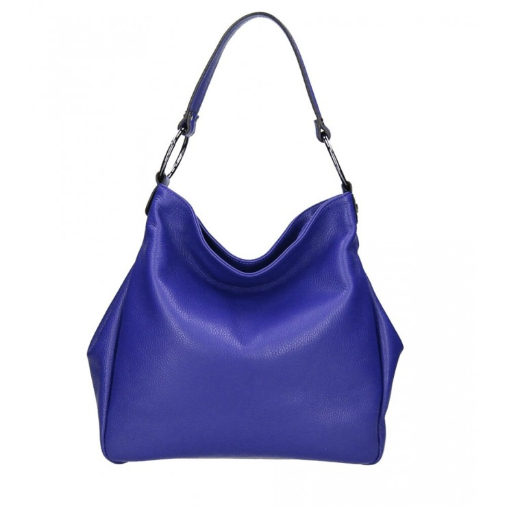 Genuine Shoulderbag 1081 azure blue Made in Italy