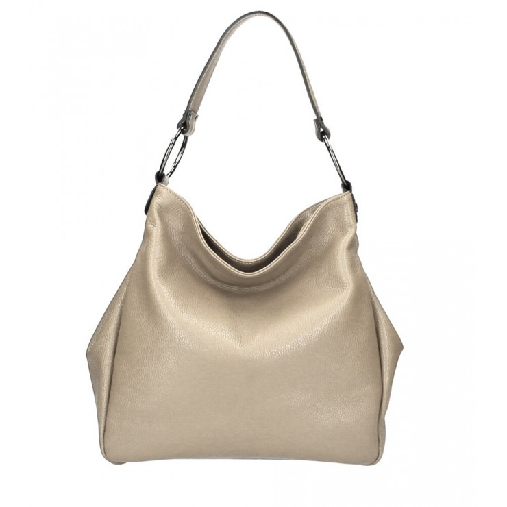 Genuine Shoulderbag 1081 taupe Made in Italy