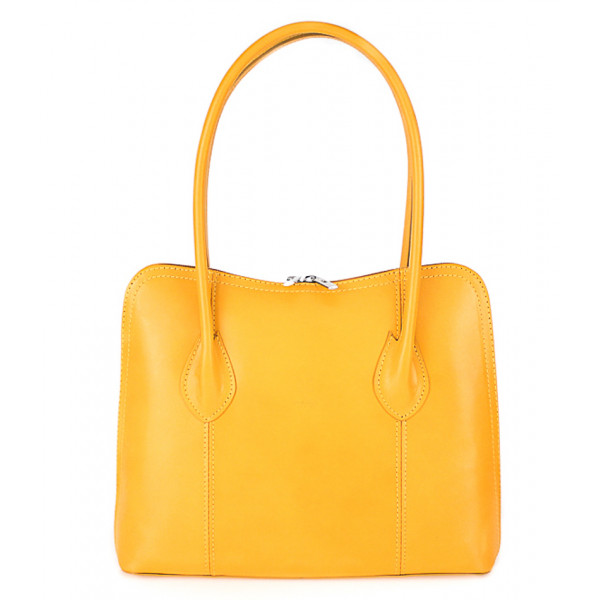 Dámska kožená kabelka 672 žltá