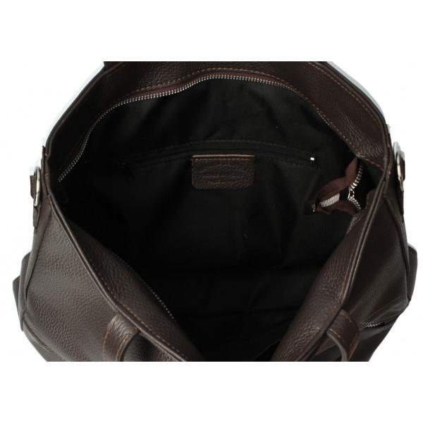 Kožená kabelka na rameno MI31 čierna MADE IN ITALY Čierna