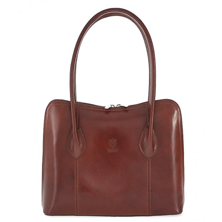 Leather shoulder bag 672 brown
