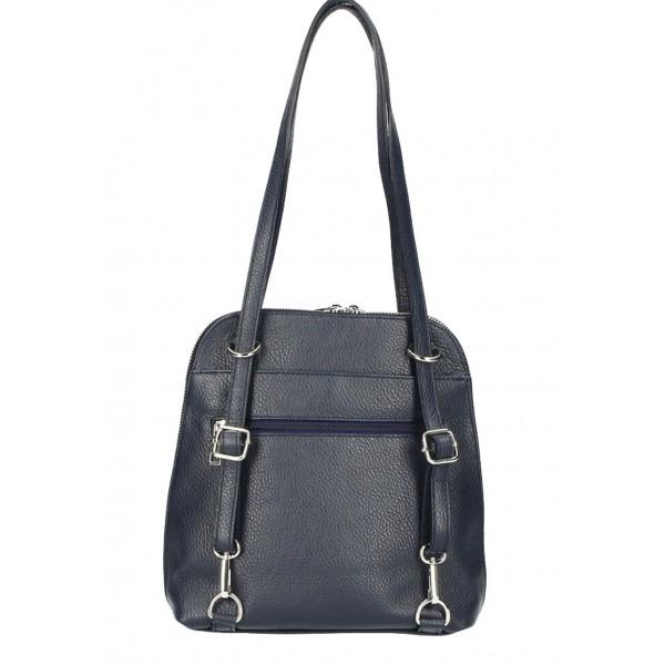 Kožená kabelka na rameno/batoh MI38 koňaková Made in Italy Koňak