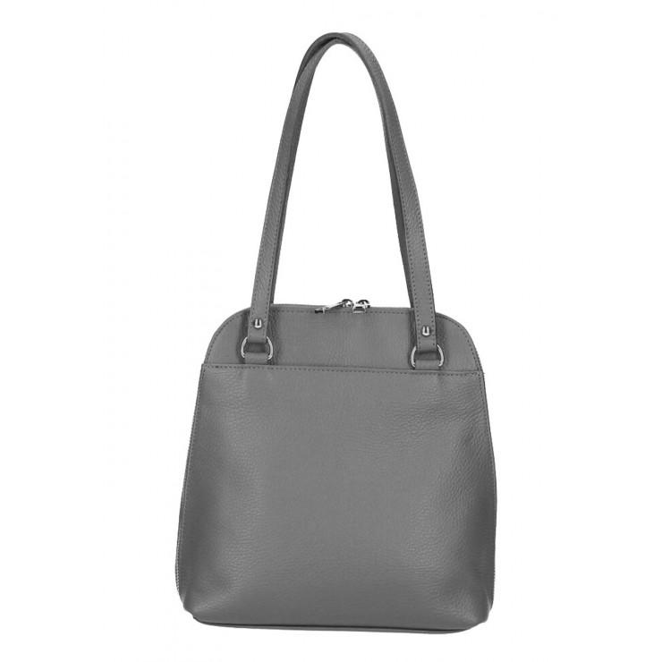 Kožená kabelka na rameno/batoh MI38 tmavošedá Made in Italy