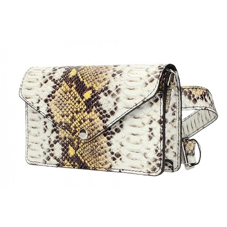 Leather Waist Bag/Messenger Bag 5303 yellow