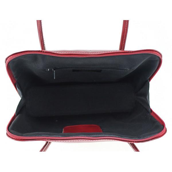 Dámska kožená kabelka 672 čierna