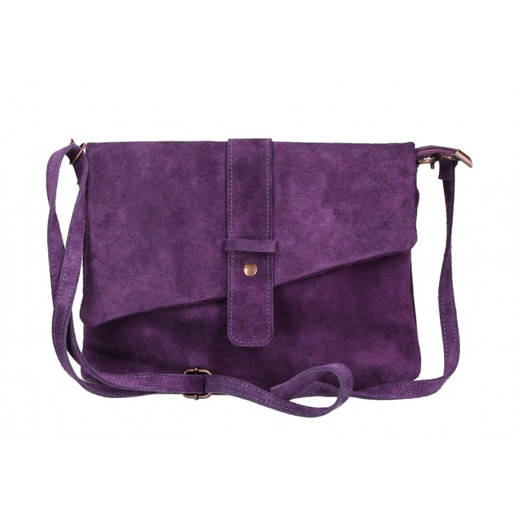 Genuine Leather Handbag 442 purple Made in Italy