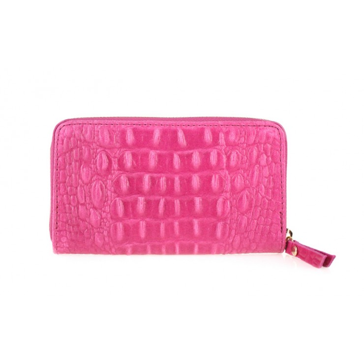 Woman genuine leather wallet 382 fuxia Made in Italy