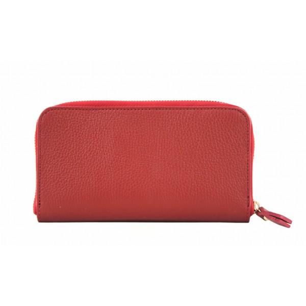 Kožená peňaženka 820B červená Červená