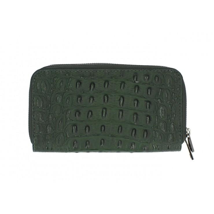 Woman genuine leather wallet 822 dark green