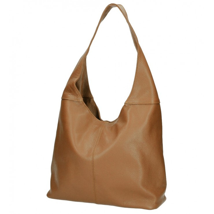 Leather shoulder bag 590 cognac MADE IN ITALY
