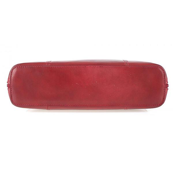 Dámska kožená kabelka 672 tmavohnedá
