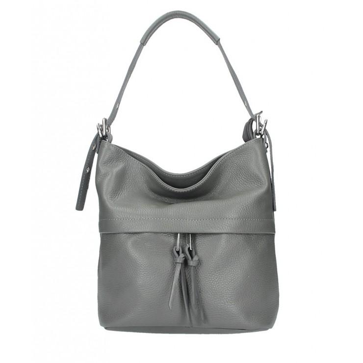 Leather Shoulder Bag 631 dark gray