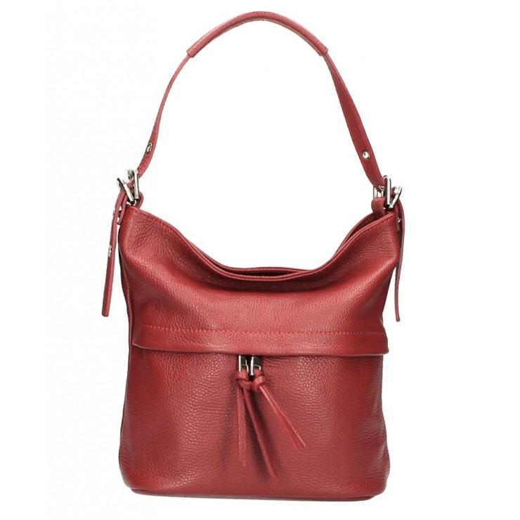 Leather Shoulder Bag 631 dark red