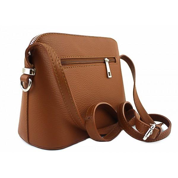 Kožená kabelka na rameno 1310 béžová Béžová