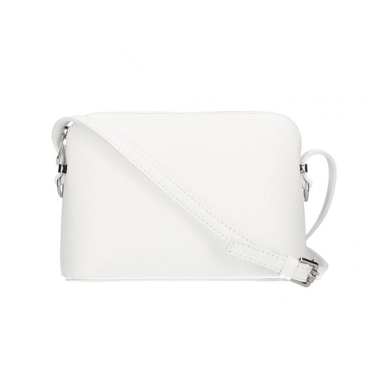 Kožená kabelka na rameno 1310 biela