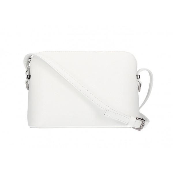 Kožená kabelka na rameno 1310 biela Biela
