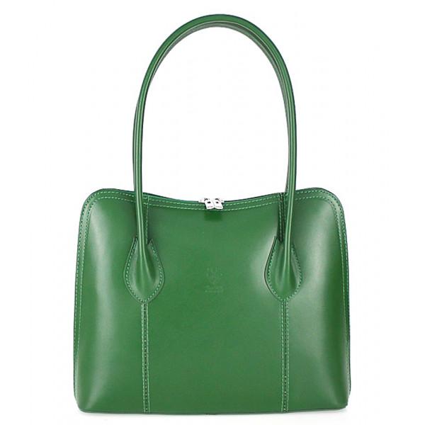 Dámska kožená kabelka 672 zelená