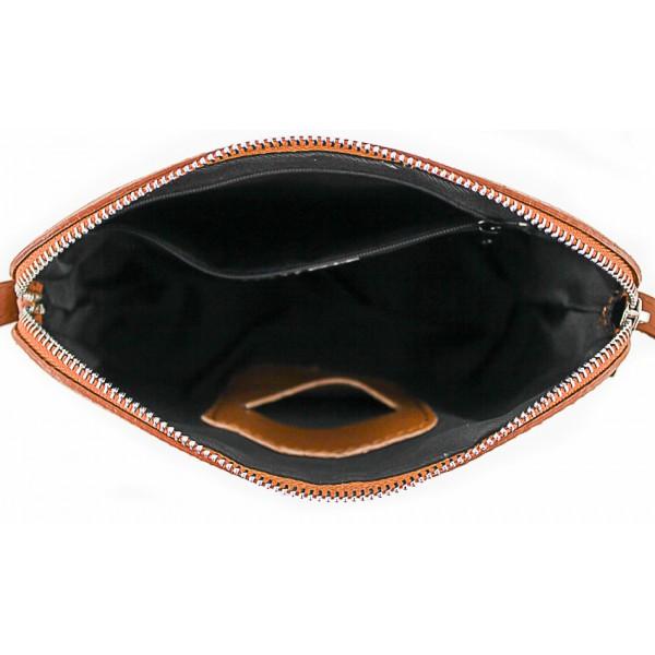 Kožená kabelka na rameno 1310 koňaková Koňak
