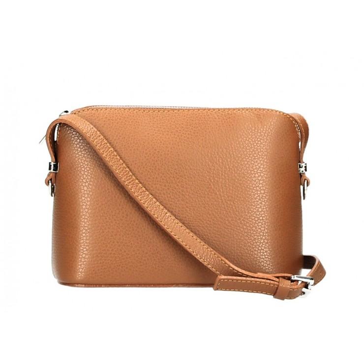 Genuine Leather Shoulder Bag 1310 cognac