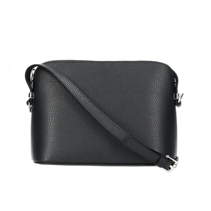 Genuine Leather Shoulder Bag 1310 black