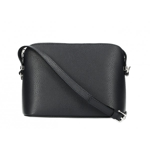 Kožená kabelka na rameno 1310 čierna Čierna