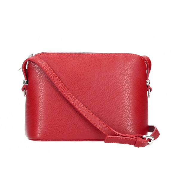 Kožená kabelka na rameno 1310 červená Červená