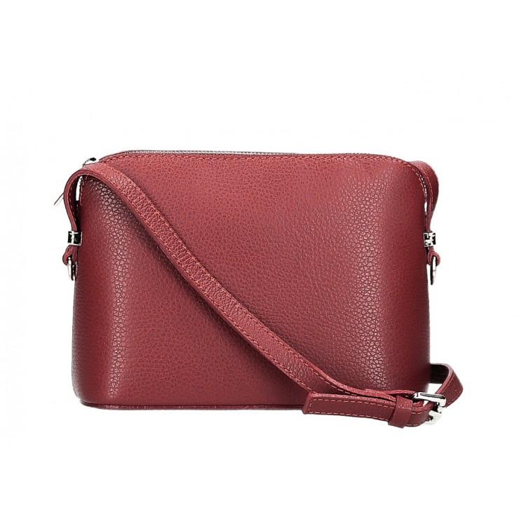 Kožená kabelka na rameno 1310 tmavočervená