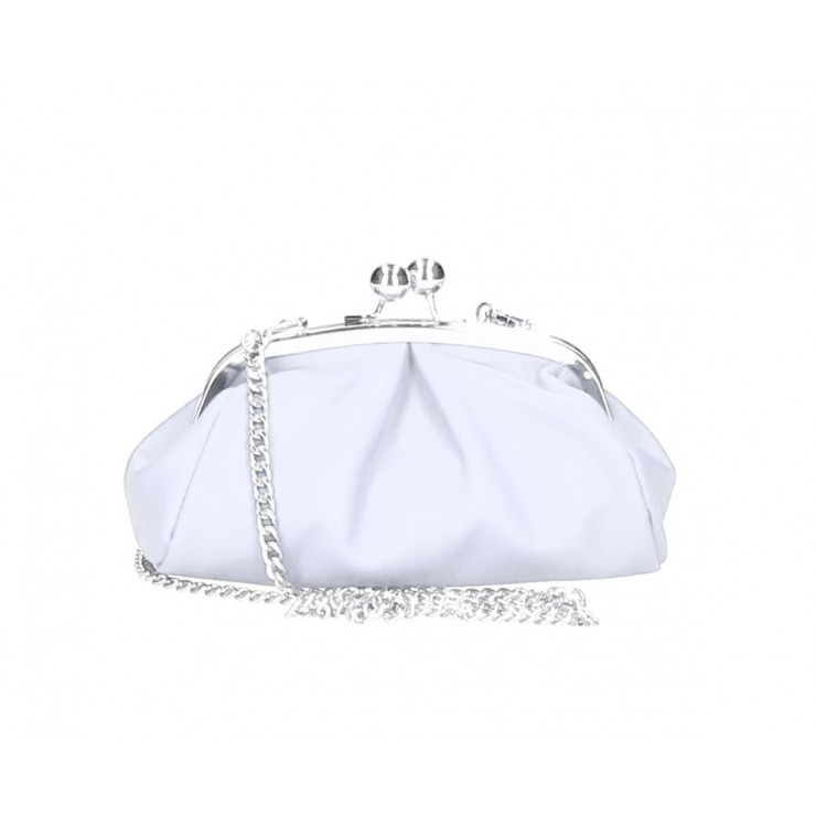 Clutch Bag with chain MI89 white Made in Italy
