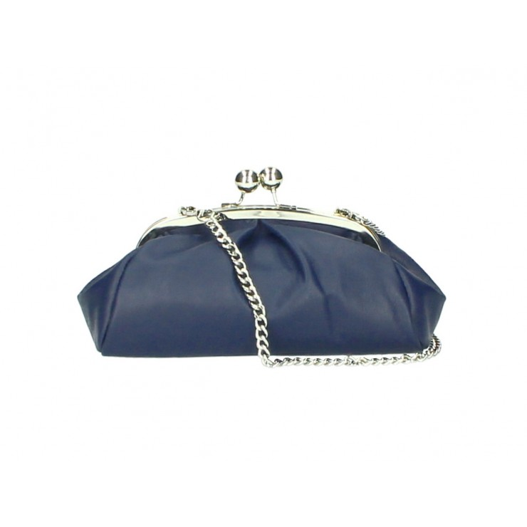 Clutch Bag with chain MI89 blue Made in Italy