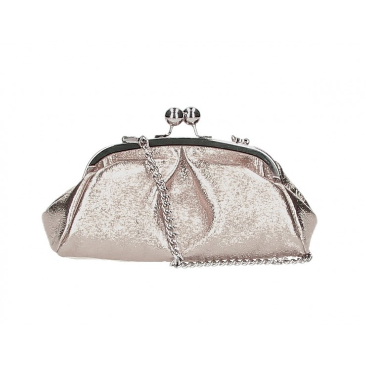 Clutch Bag with chain MI89 bronze Made in Italy
