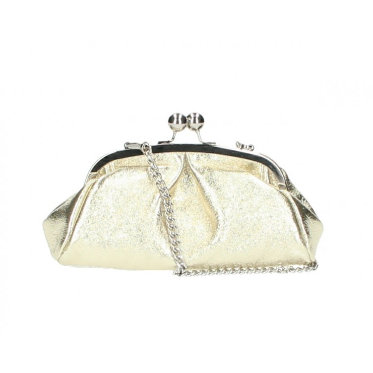 Clutch Bag with chain MI89 gold Made in Italy