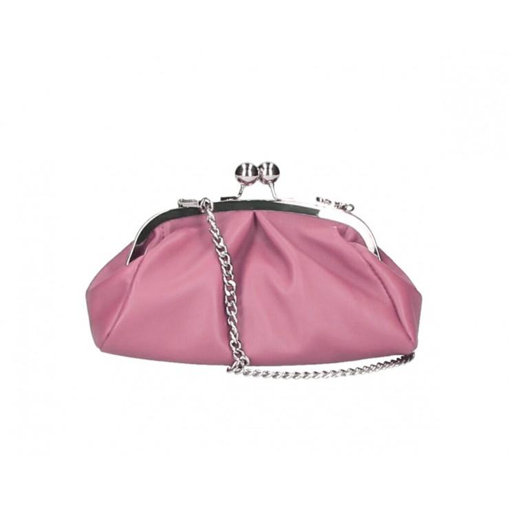 Kožená kabelka MI89 ružová Made in Italy