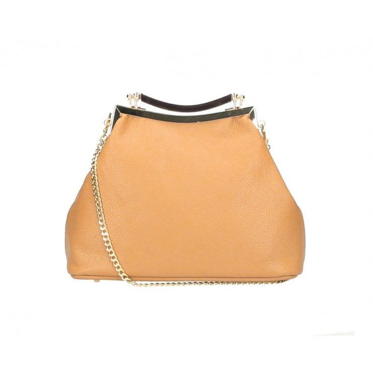 Clutch Bag with chain MI91 apricot Made in Italy