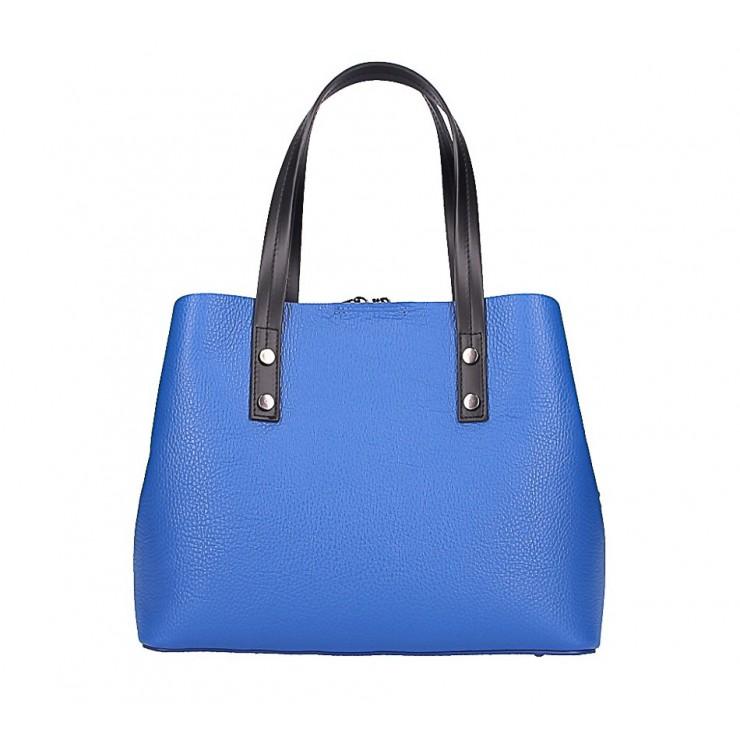Kožená kabelka 1168 azurovo modrá