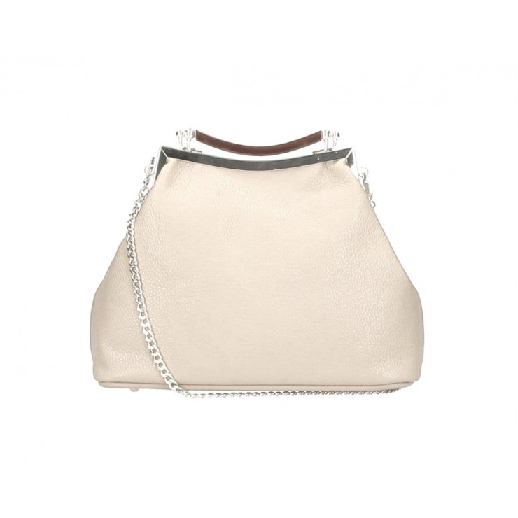 Clutch Bag with chain MI91 beige Made in Italy