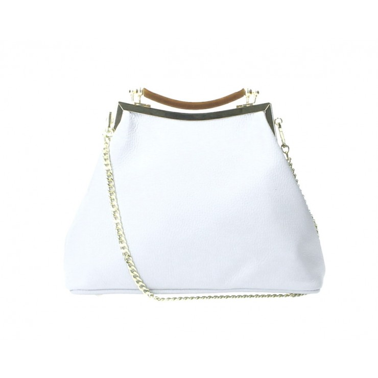Clutch Bag with chain MI91 white Made in Italy