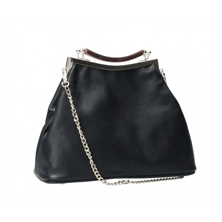 Clutch Bag with chain MI91 black Made in Italy