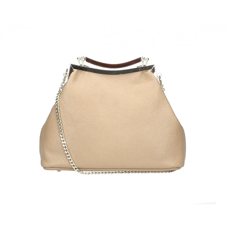 Clutch Bag with chain MI91 gray-brown Made in Italy