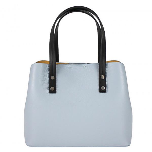 Kožená kabelka 1168 nebesky modrá